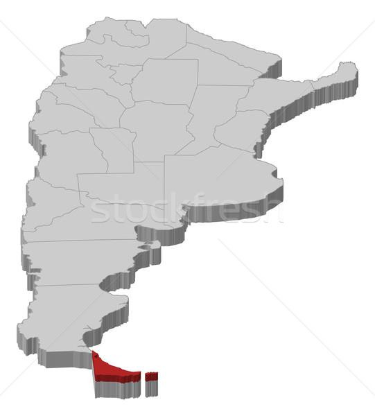 Mapa Argentina político vários abstrato fundo Foto stock © Schwabenblitz