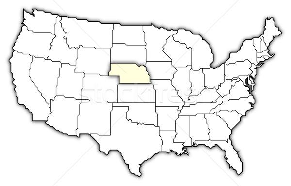 Mappa Stati Uniti Nebraska politico parecchi abstract Foto d'archivio © Schwabenblitz