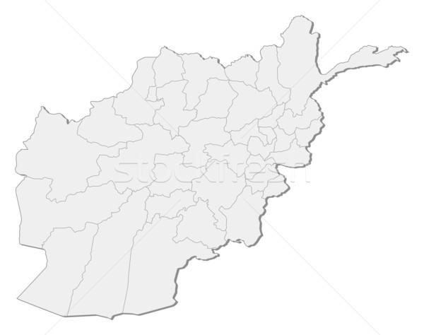 Karte Afghanistan politischen mehrere abstrakten Erde Stock foto © Schwabenblitz