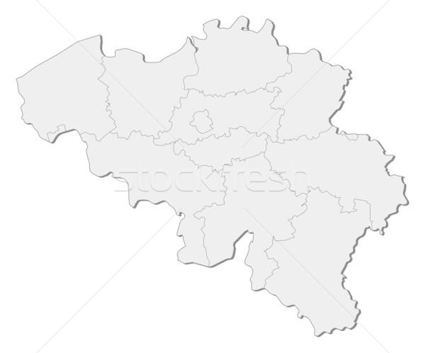 Stock photo: Map of Belgium