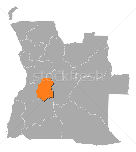 карта Ангола политический несколько аннотация фон Сток-фото © Schwabenblitz