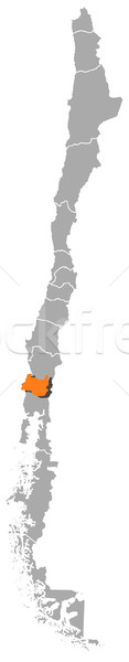 Map of Chile, Los R Stock photo © Schwabenblitz