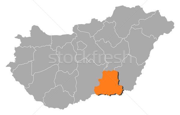 Map of Hungary, Csongr Stock photo © Schwabenblitz