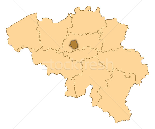 Map of Belgium, Bruxelles highlighted Stock photo © Schwabenblitz