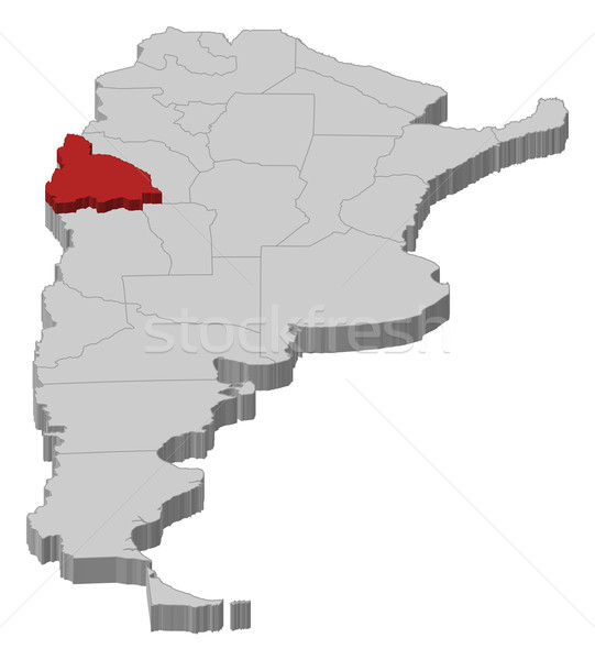 Kaart Argentinië san juan politiek verscheidene abstract Stockfoto © Schwabenblitz
