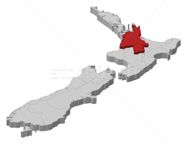 Map of New Zealand, Waikato highlighted Stock photo © Schwabenblitz