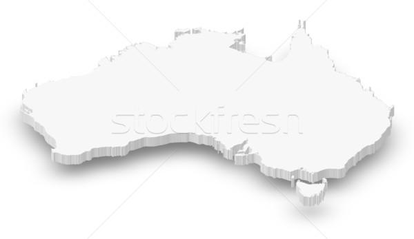 карта Австралия политический несколько аннотация Мир Сток-фото © Schwabenblitz