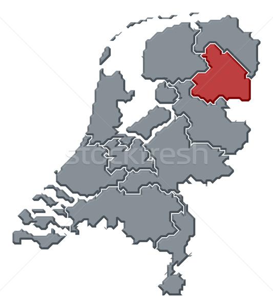 Stock foto: Karte · Niederlande · politischen · mehrere · abstrakten · Hintergrund