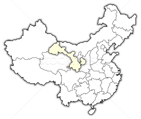 Map of China, Gansu highlighted Stock photo © Schwabenblitz