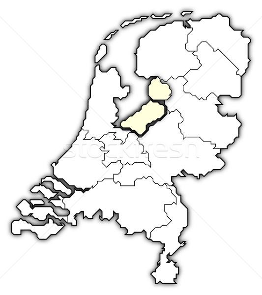 ストックフォト: 地図 · オランダ · 政治的 · いくつかの · 抽象的な · 背景