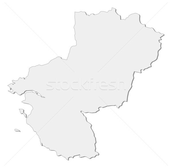 Map of Pays de la Loire (France) Stock photo © Schwabenblitz