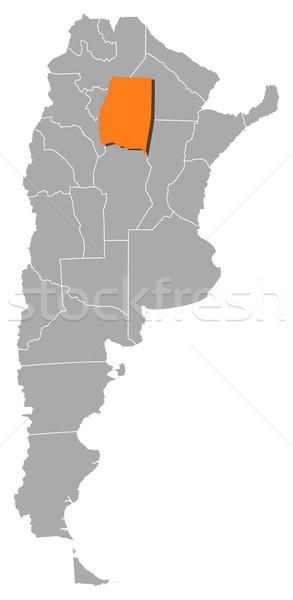 Mappa Argentina Santiago politico parecchi mondo Foto d'archivio © Schwabenblitz