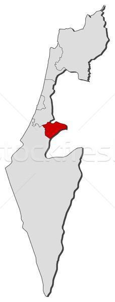 карта Израиль Иерусалим политический несколько аннотация Сток-фото © Schwabenblitz