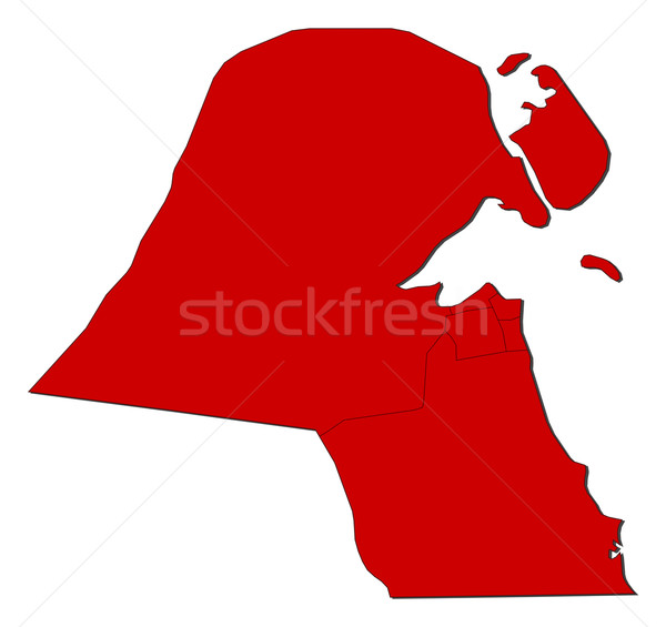 Map of Kuwait Stock photo © Schwabenblitz