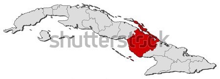 Map of Cuba, Ciego de  Stock photo © Schwabenblitz