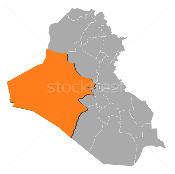 Map of Iraq, Al Anbar highlighted Stock photo © Schwabenblitz