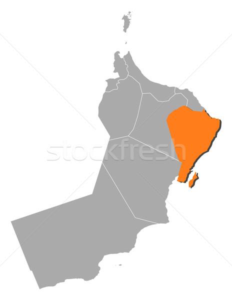 Harita Umman kül siyasi birkaç bölgeler Stok fotoğraf © Schwabenblitz