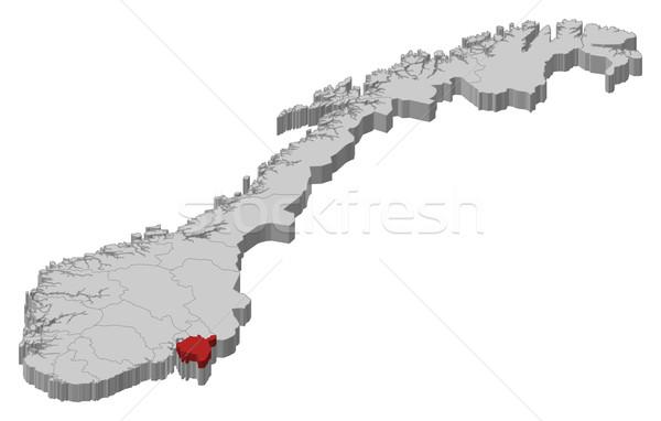 Map of Norway,  Stock photo © Schwabenblitz