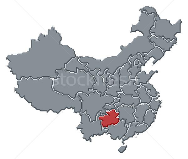 Map of China, Guizhou highlighted Stock photo © Schwabenblitz