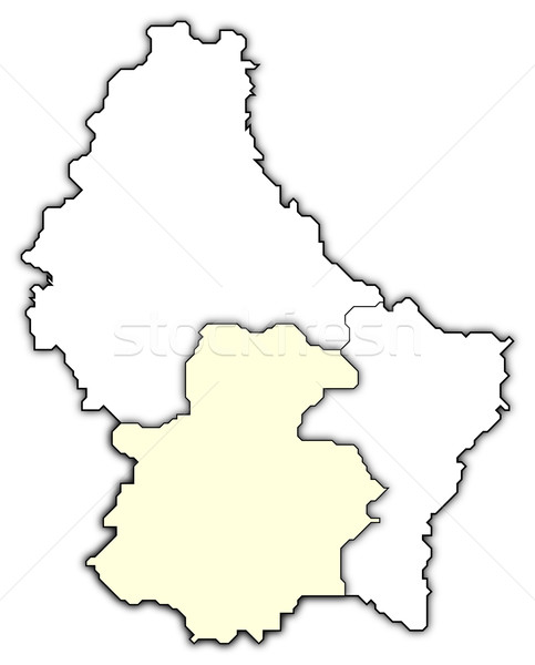 Map of Luxembourg, Luxembourg highlighted Stock photo © Schwabenblitz