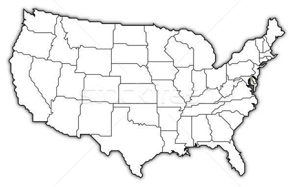 Map of the United States, Delaware highlighted Stock photo © Schwabenblitz