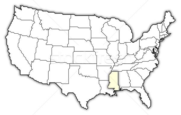 Harita Amerika Birleşik Devletleri Mississipi siyasi birkaç soyut Stok fotoğraf © Schwabenblitz