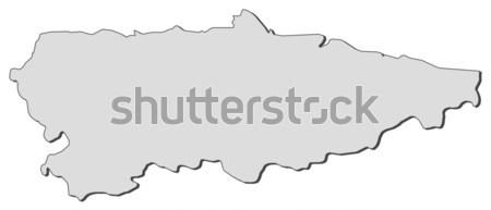 Map of Asturias (Spain) Stock photo © Schwabenblitz