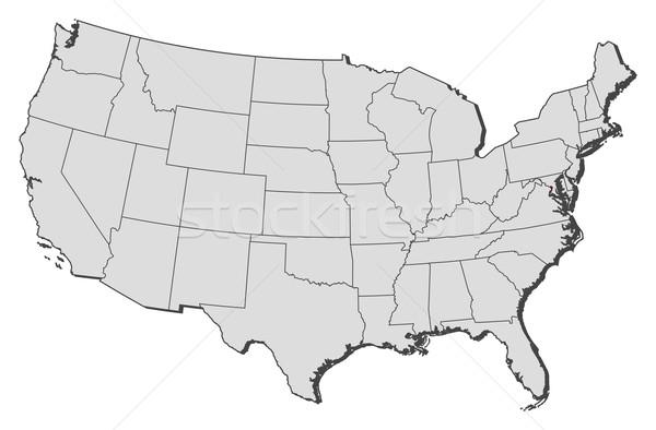 Map of the United States, Washington, D.C. highlighted Stock photo © Schwabenblitz