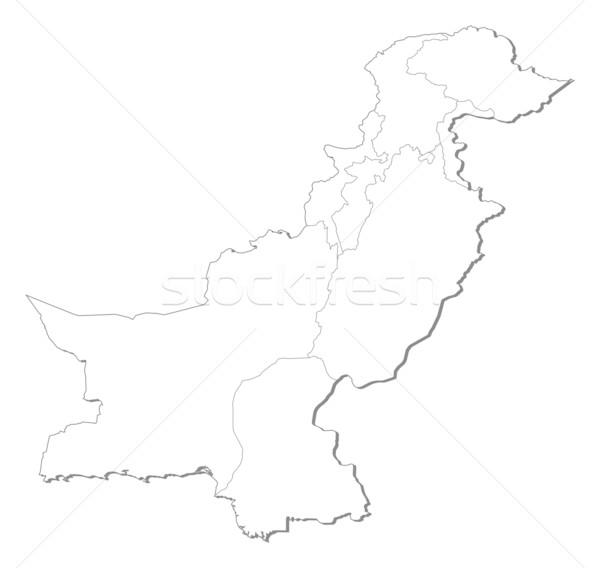 Térkép Pakisztán politikai néhány absztrakt Föld Stock fotó © Schwabenblitz