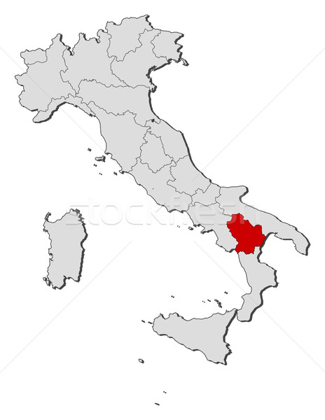 Map of Italy, Basilicata highlighted Stock photo © Schwabenblitz