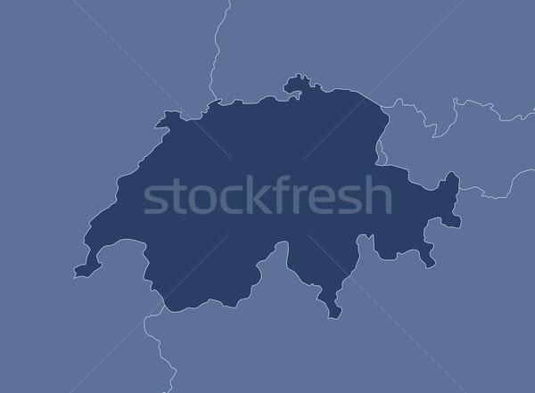 Harita siyasi birkaç soyut arka plan mavi Stok fotoğraf © Schwabenblitz