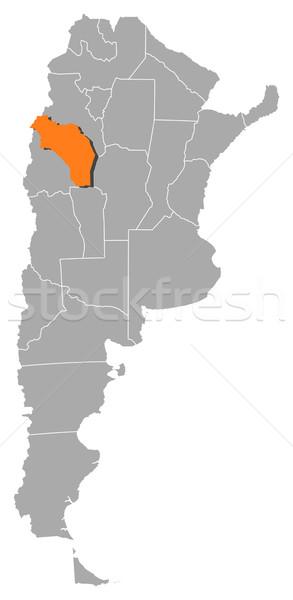 Map of Argentina, La Rioja highlighted Stock photo © Schwabenblitz
