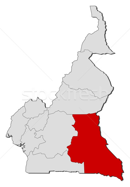 Kaart Kameroen politiek verscheidene regio abstract Stockfoto © Schwabenblitz