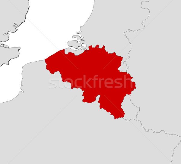 Mappa Belgio politico parecchi abstract mondo Foto d'archivio © Schwabenblitz