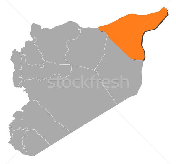 Foto stock: Mapa · Síria · político · vários · abstrato · fundo