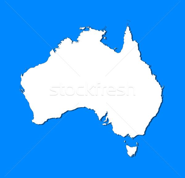 Mapa Austrália político vários abstrato mundo Foto stock © Schwabenblitz