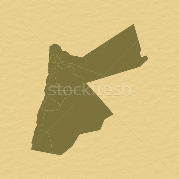 地図 ヨルダン 政治的 いくつかの 抽象的な 世界 ストックフォト © Schwabenblitz