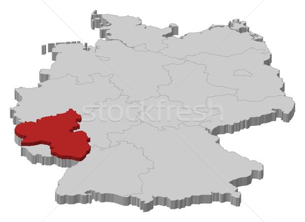Map Of Germany Rhineland.Map Of Germany Rhineland Palatinate Highlighted Vector Illustration