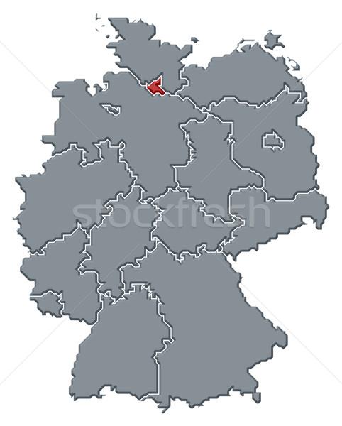 地図 ドイツ ハンブルク 政治的 いくつかの 抽象的な ストックフォト © Schwabenblitz