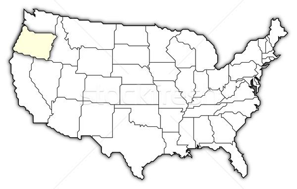 Stock fotó: Térkép · Egyesült · Államok · Oregon · politikai · néhány · absztrakt