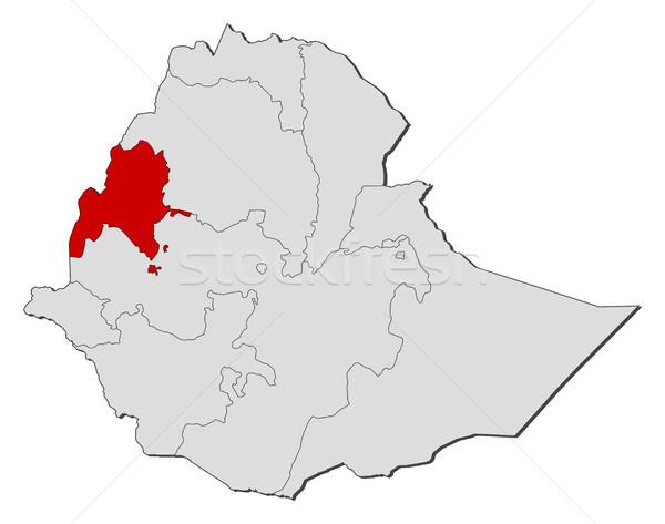 Stock photo: Map - Ethiopia, Benishangul-Gumuz