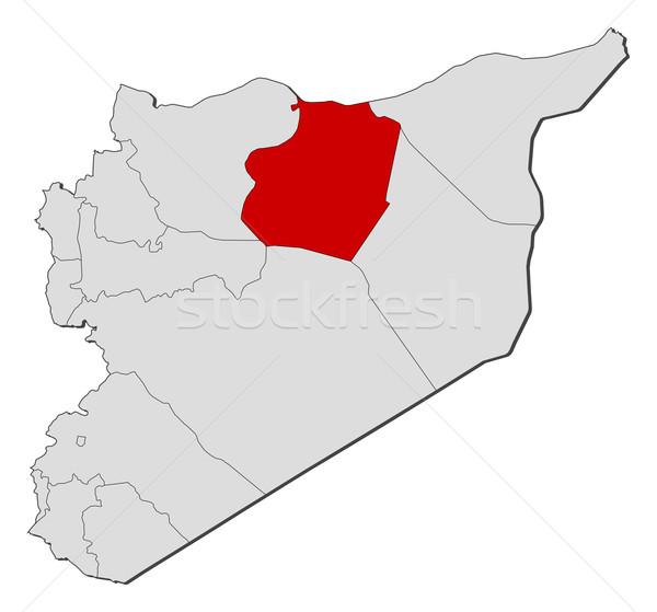 Foto stock: Mapa · Síria · político · vários · abstrato · terra