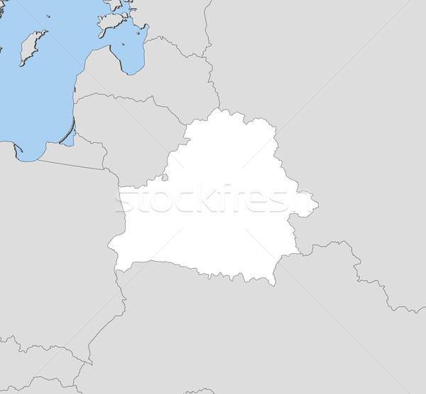 карта Беларусь политический несколько аннотация Мир Сток-фото © Schwabenblitz
