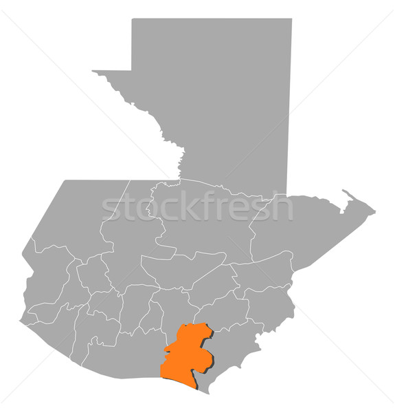 Map of Guatemala, Santa Rosa highlighted Stock photo © Schwabenblitz