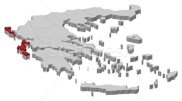 Mappa Grecia politico parecchi abstract Foto d'archivio © Schwabenblitz