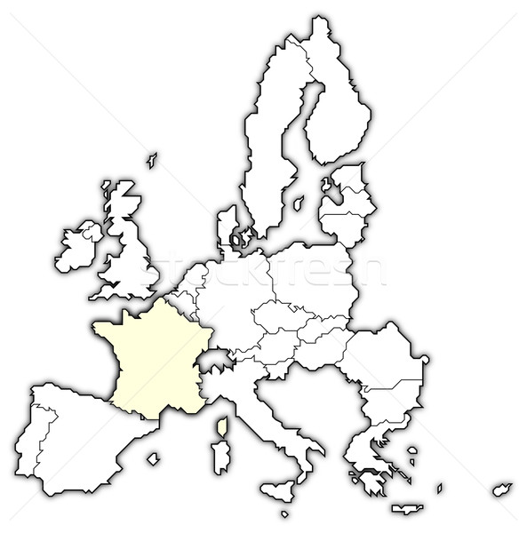 Map of the European Union, France highlighted Stock photo © Schwabenblitz