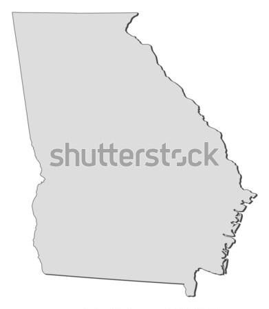 карта Грузия Соединенные Штаты аннотация фон связи Сток-фото © Schwabenblitz