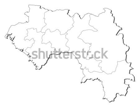 地図 ギニア 黒 行 世界中 抽象的な ストックフォト © Schwabenblitz