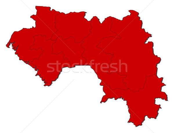 карта Гвинея красный аннотация Мир Сток-фото © Schwabenblitz