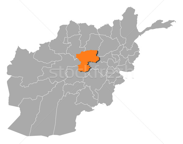 Map of Afghanistan, Bamyan highlighted Stock photo © Schwabenblitz